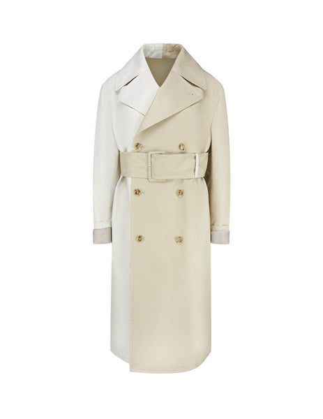 Women's Beige MM6 Maison Margiela Two-Tone Belted Trench Coat S32AH0062S5232961