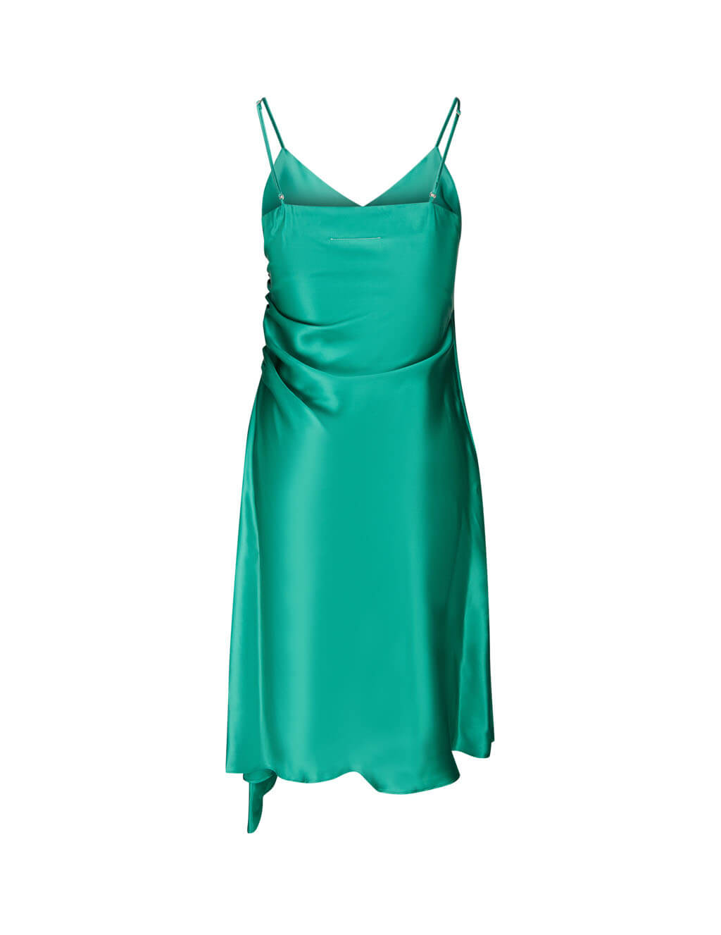Women's Turquoise Green MM6 Maison Margiela Asymmetric Slip Dress S52CT0545S52912660