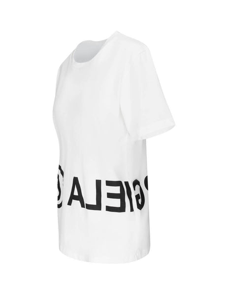 Women's White MM6 Maison Margiela Bold Logo T-Shirt S52GC0119S23588100