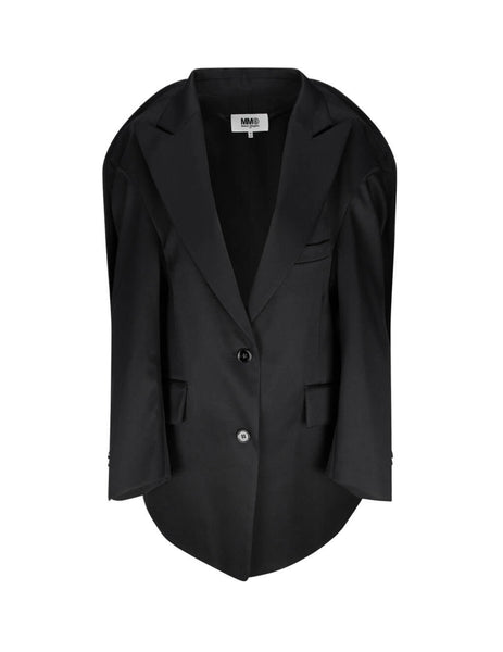 Women's MM6 Maison Margiela Circular Jacket in Black - S62BN0034S47848900