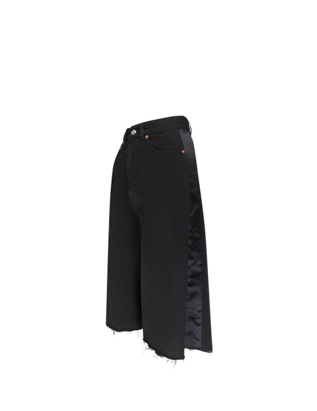 MM6 Maison Margiela Women's Giulio Fashion Black Denim Culottes S62MU0027S30653900