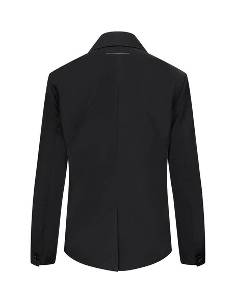 MM6 Maison Margiela Women's Giulio Fashion Black Double Breasted Blazer S52BN0073S53087900