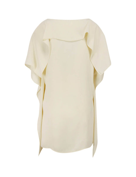 MM6 Maison Margiela Women's Giulio Fashion Off White Draped T-Shirt S32GC0567S43455729
