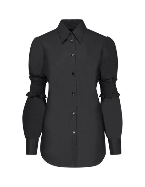 MM6 Maison Margiela Women's Giulio Fashion Black Elasticated Band Shirt S52DL0092S47294900