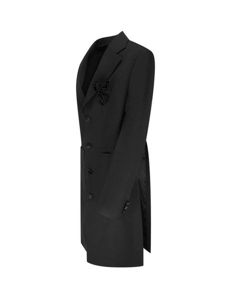 MM6 Maison Margiela Women's Giulio Fashion Black Flower Applique Coat S62AH0026S52747900