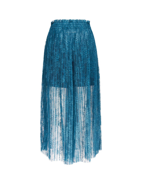 MM6 Maison Margiela Women's Giulio Fashion Blue Lace Trousers S52KA0201S49971528