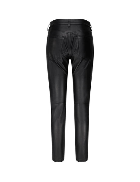 MM6 Maison Margiela Black Leather-Look Trousers S62LB0048SY1498900