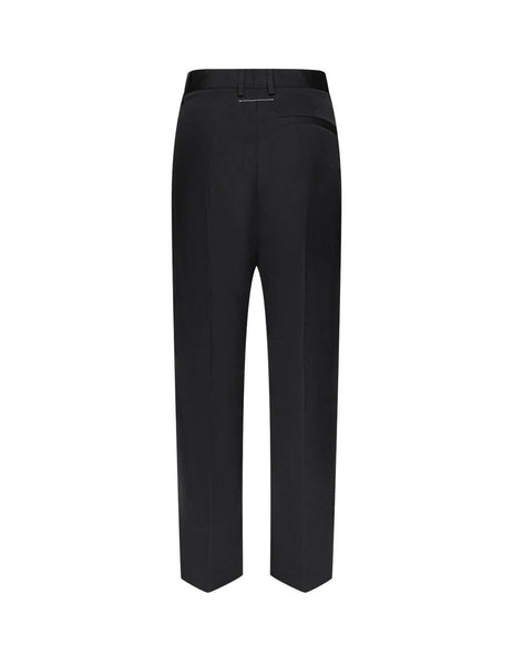 MM6 Maison Margiela Women's Giulio Fashion Black Nylon Trousers S52KA0266S53087900