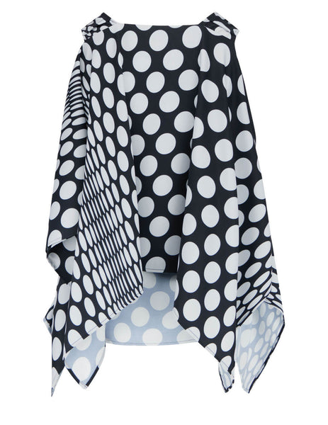 Women's MM6 Maison Margiela Polka Dot Top in Black/White - S62NC0068S53869002S