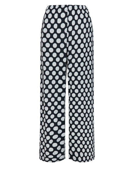 Women's MM6 Maison Margiela Polka Dot Trousers in Black/White - S62KB0078S23928002S
