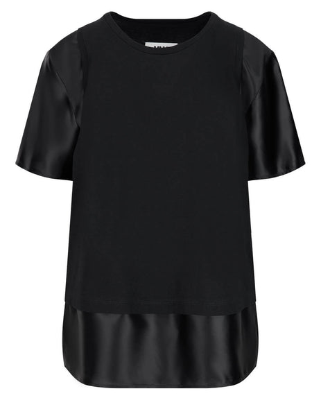 Women's MM6 Maison Margiela Spliced T-Shirt in Black - S52GC0182S23588900