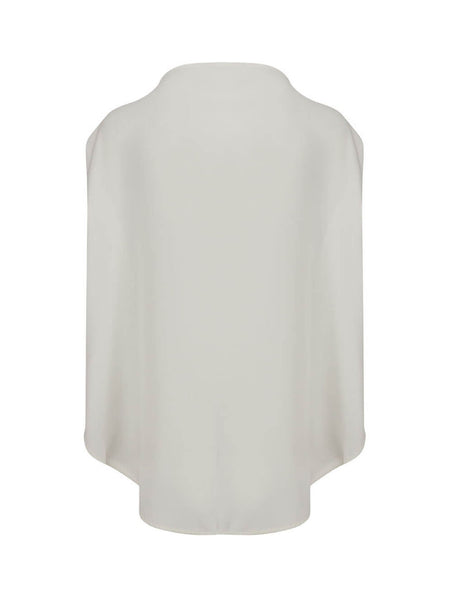 Women's White MM6 Maison Margiela Square Neck Blouse S62NC0044S43455101
