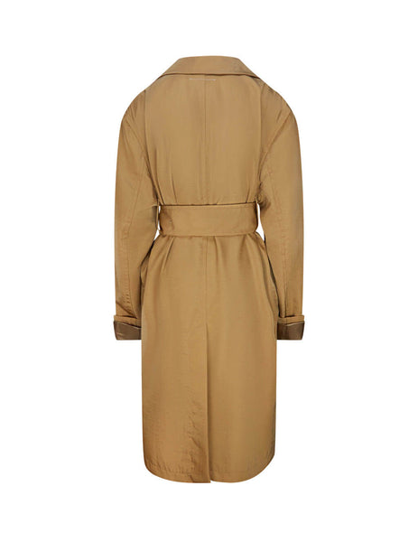 MM6 Maison Margiela Women's Giulio Fashion Camel Trench Coat S52AH0043S53087131