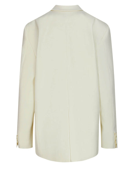 Women's MM6 Maison Margiela Twill Poly Jacket in Off White - S62BN0039S47848101
