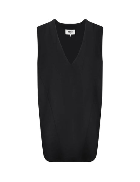 Women's Black MM6 Maison Margiela V-Neck Shift Dress S52CT0567S22600900