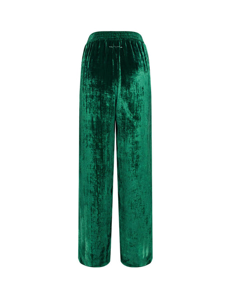 Women's Duck Green MM6 Maison Margiela Velvet Trousers S52KA0284S53086649