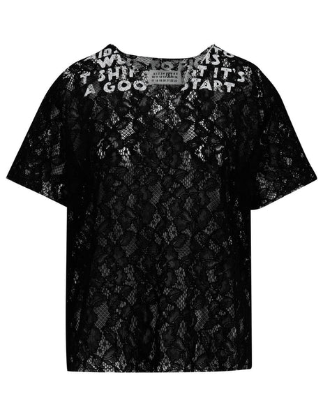 Women's Black MM6 Maison Margiela Wild Floral T-Shirt S62GD0053S48633900