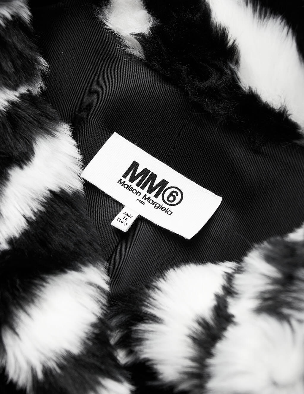 MM6 Maison Margiela Zebra High-Low Coat S62AA0033S53397001J