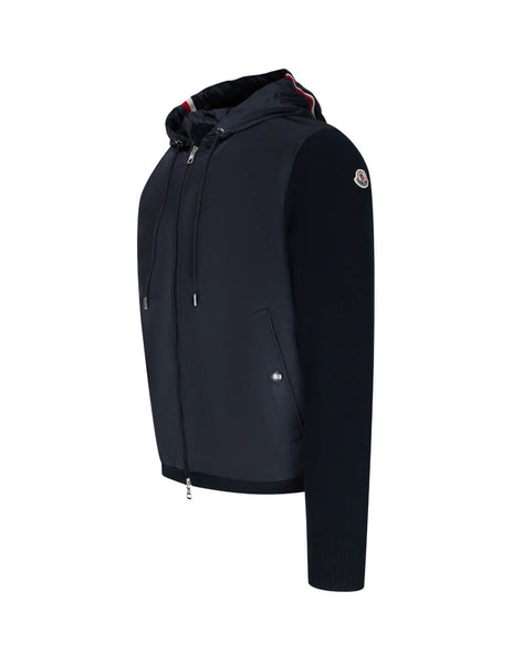 Moncler Men's Navy Cardigan Trim Jacket 0919B70100V9115742