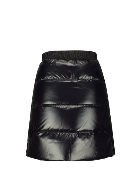Moncler Women's Black Down Quilted Mini Skirt 2590500C0065999