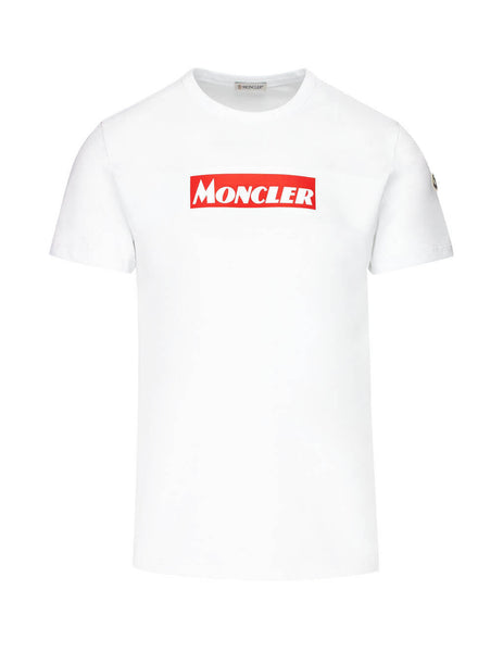 Moncler Men's White Graphic Print T Shirt 80484508390T001