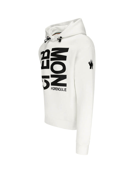 Men's Moncler Grenoble Hashtag Grenoble Hoodie in Natural White - 0978G70410809HS034