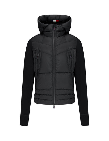 Men's Moncler Grenoble Zip Up Cardigan in Black. 0978G5090080093999