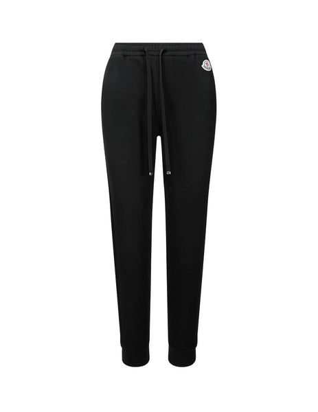 Women's Black Moncler Grosgrain Drawstring Sweatpants 0938H70100V8053999