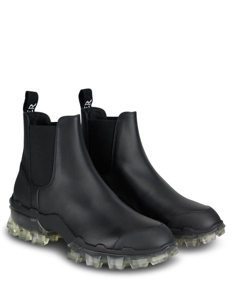 Women's Black Moncler Hanya Ankle Boots 09B4F7010002SFT999