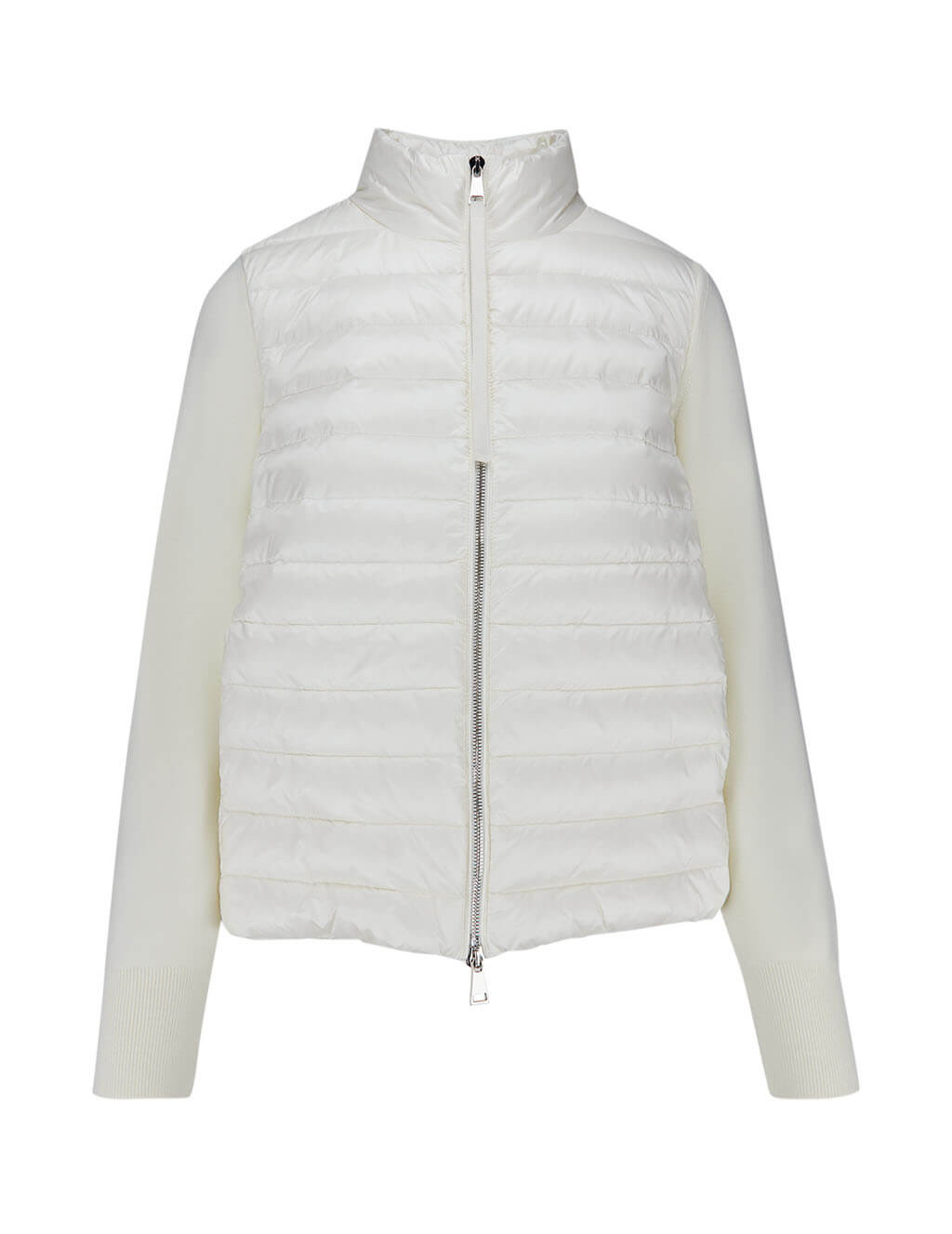 Moncler Women's White Lined Jumper 0939B50400A9001030
