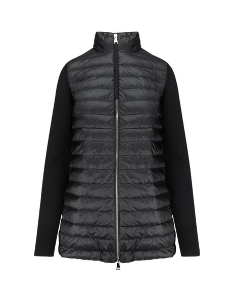 Moncler Women's Black Lined Long Jumper 0939B50900A9001999