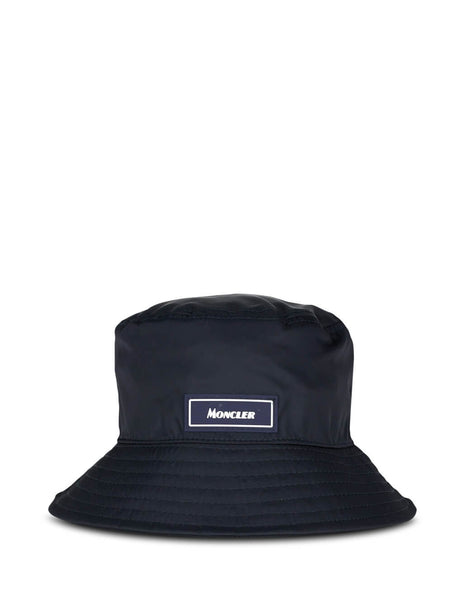 Moncler Men's Navy Logo Bucket Hat 0913B70800539TL778