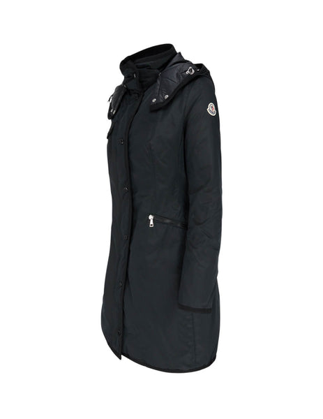 Moncler Women's Black Mauve Long Coat 0931C50000C0353999