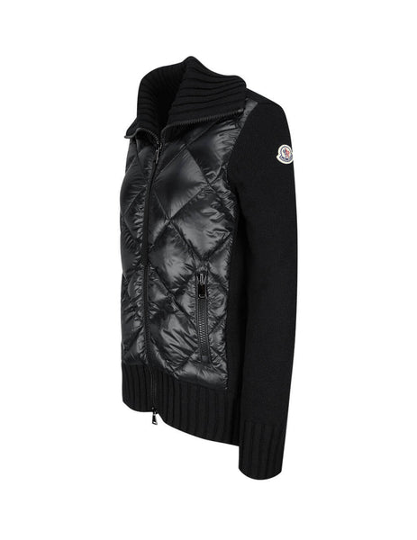Women's Black Moncler Padded Cardigan 0939B51600A9197999
