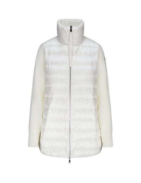 Moncler Women's White Padded Cardigan 0939B51200A9018030