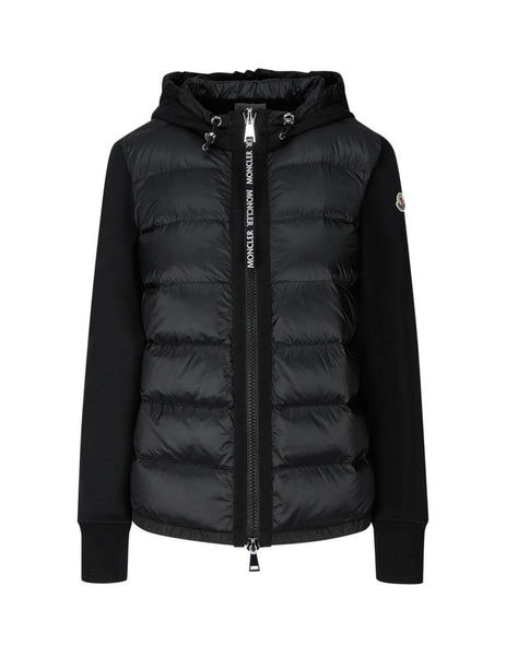 Women's Black Moncler Padded Zip Cardigan 0938G50300V8053999