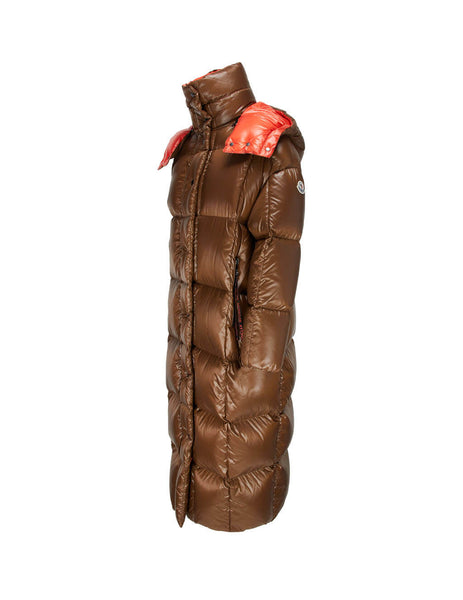 Women's Moncler Parnaiba Long Coat in Brown. 0931D53100C0067269
