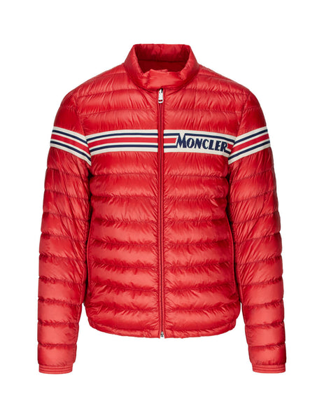 Moncler Men's Red Renald Nylon Lightweight Jacket 0911a1040053279448