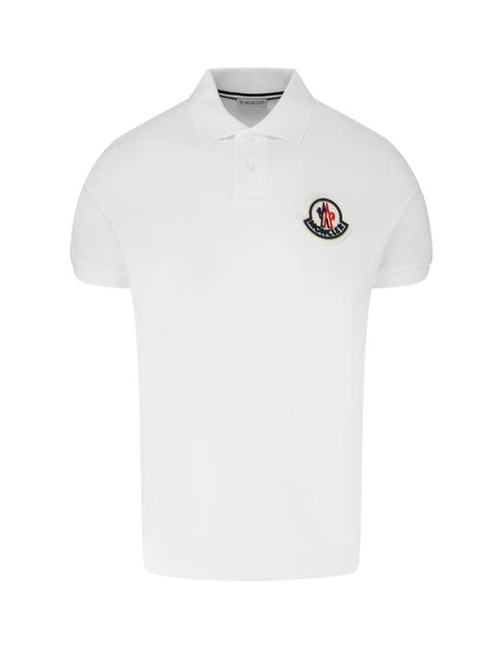 Moncler Men's Giulio Fashion White Short Sleeve Polo Shirt 0918A7110084556004
