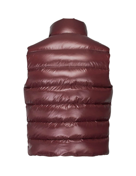 Moncler Men's Cocoa Red Tib Gilet 43350056895046V