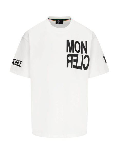 Men's Moncler Grenoble Hashtag Grenoble T-Shirt in Natural White - 0978C705208390T034