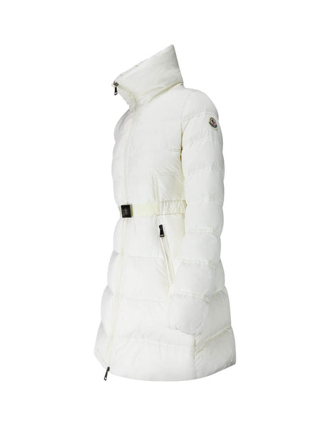 Moncler Women's Giulio Fashion White Accenteur Shell Down Coat 4934105C0230034