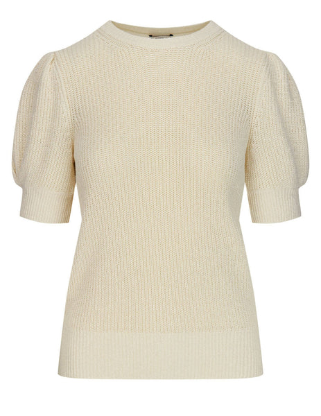 Women's Moncler Balloon Sleeve Knit Jumper in Cream - 0939C77300V9197040