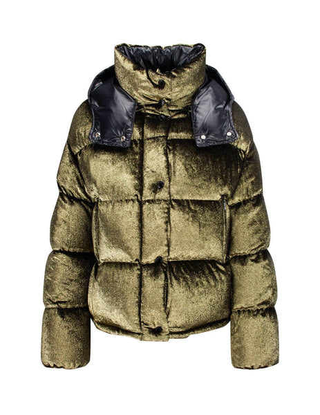 Moncler Women's Giulio Fashion Gold Caille Coat 4534685C0302999