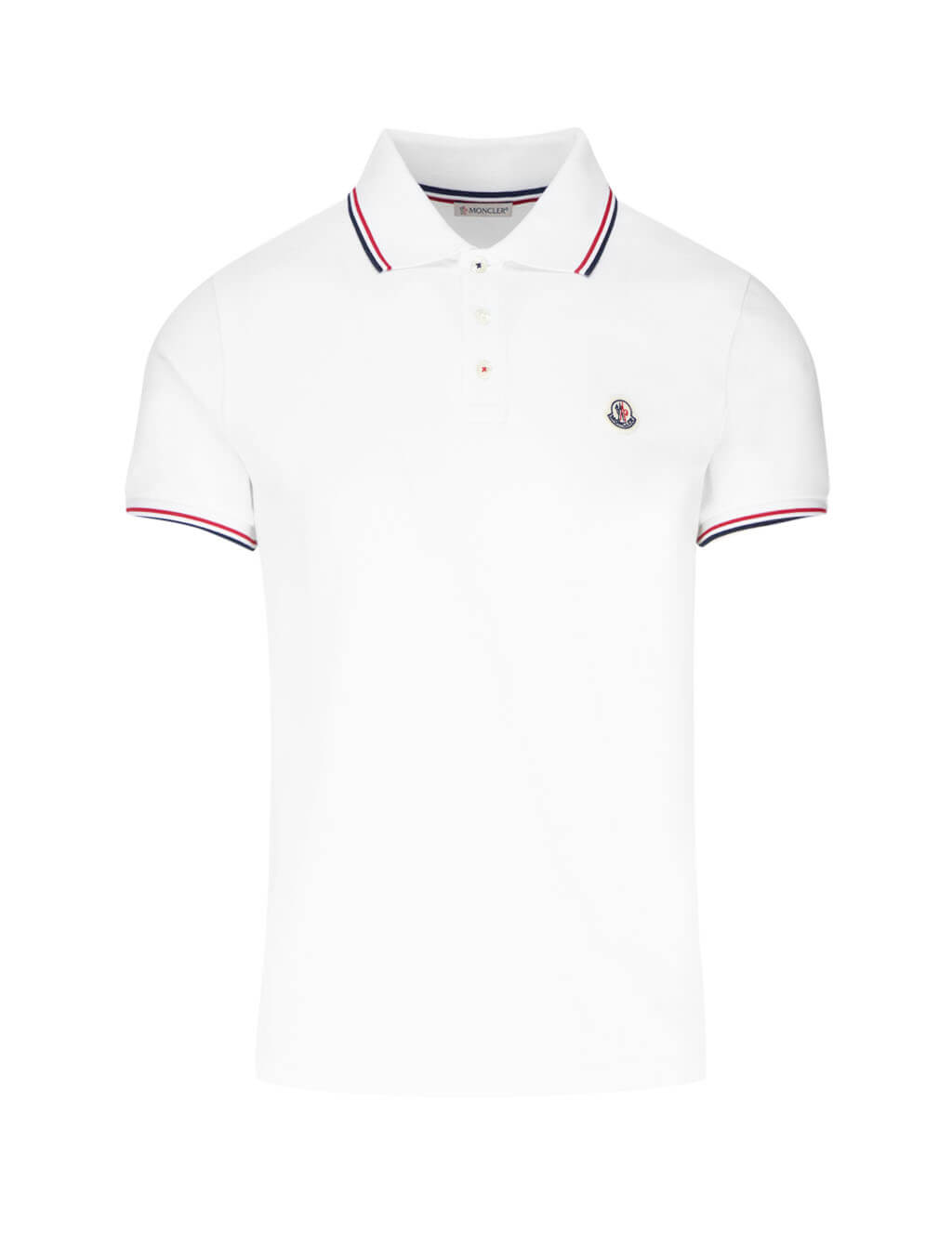 Moncler Men's Giulio Fashion White Cotton Classic Polo Shirt 834560084556001