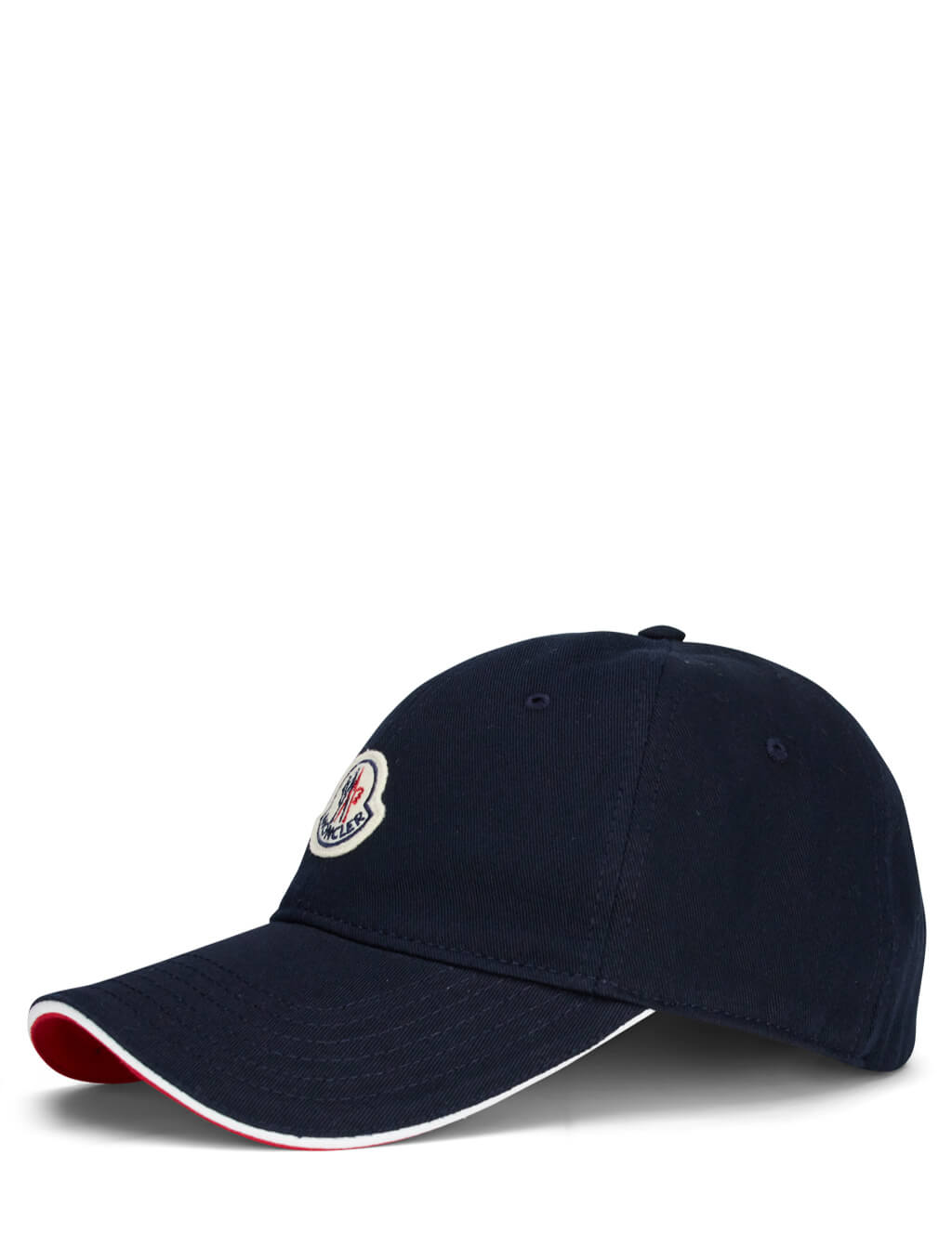 Men's Moncler Logo Baseball Cap with Contrast Brim in Navy Blue - 0913B70700V0090742
