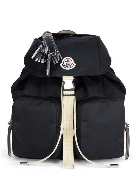 Women's Black Moncler Dauphine Large Backpack. 09B5A7000002SJK999