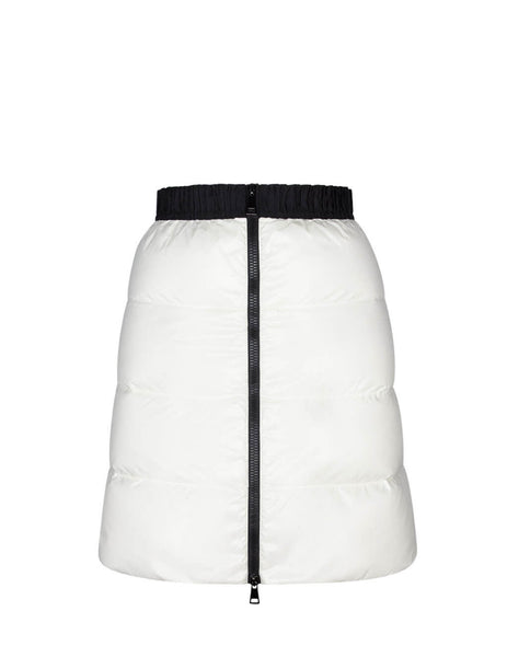Moncler Women's Giulio Fashion White Down Quilted Mini Skirt 2590500C0065034