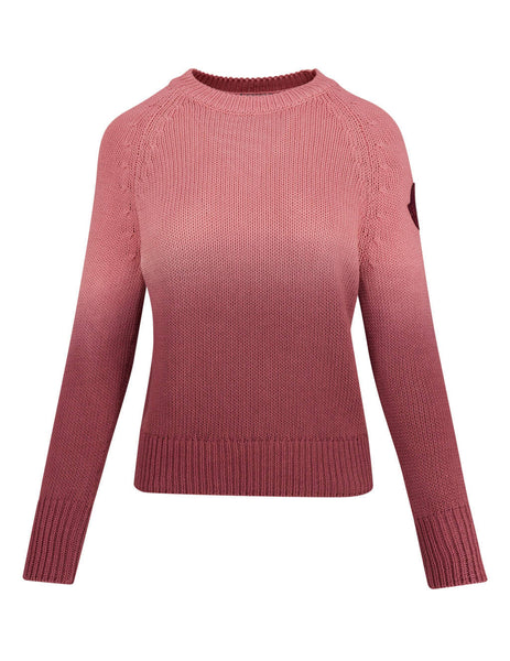 Women's Burgundy Moncler Gradient Jumper 0939C71160V9088402
