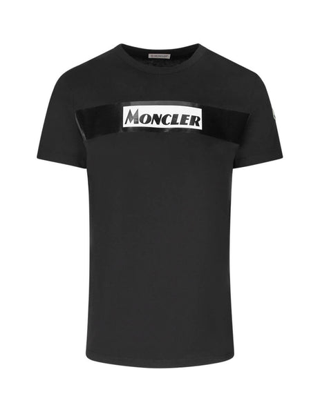Moncler Men's Black Graphic Print T Shirt 80484508390T999